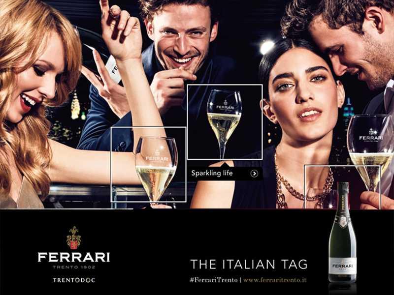 La nuova Campagna di Cantine Ferrari con Armando Testa