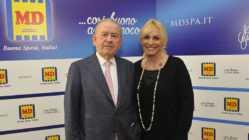 Patrizio Podini e la nuova testimonial MD Antonella Clerici