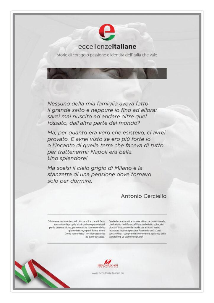Antonio Cerciello Pergamena Eccellenze Italiane