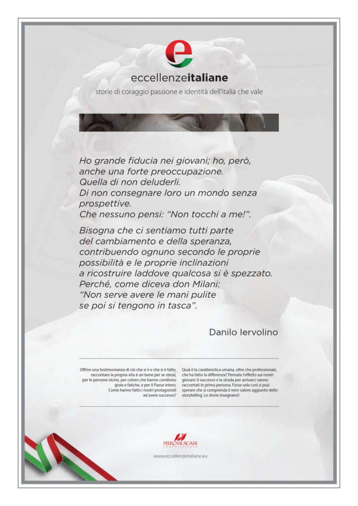 Danilo Iervolino Pergamena Eccellenze Italiane