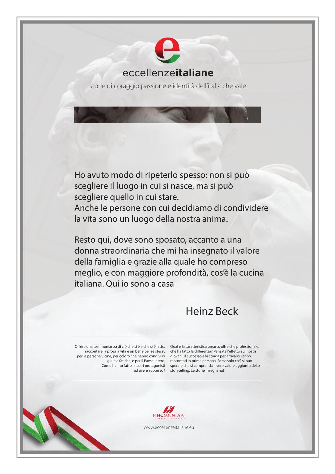 La pergamena di Heinz Beck