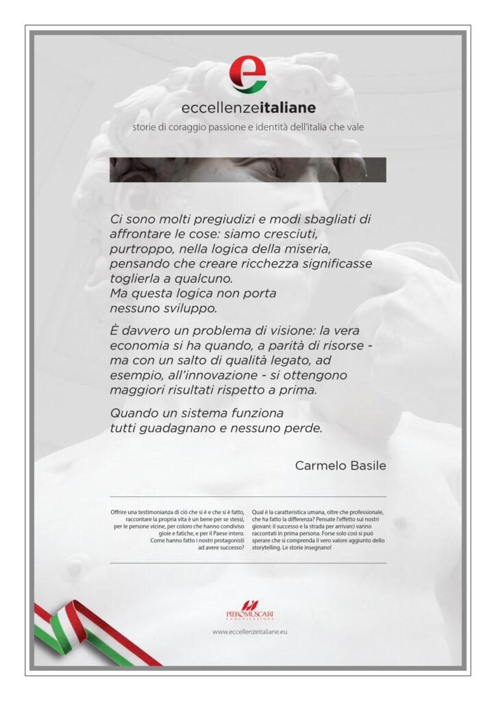 Carmelo Basile Pergamena Eccellenze Italiane