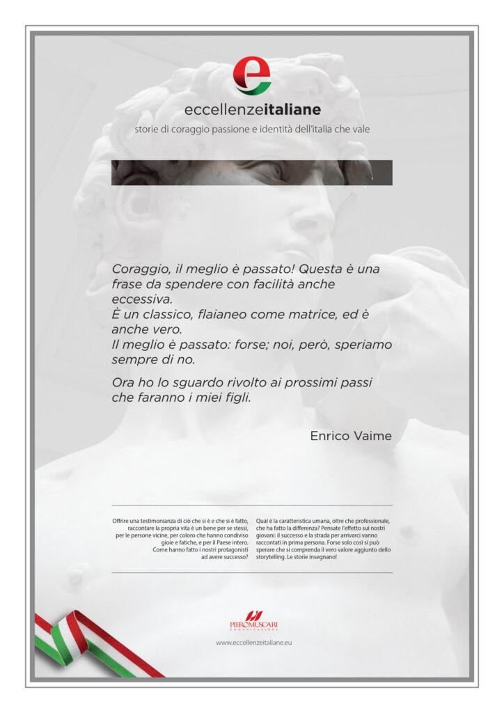 Enrico Vaime Pergamena Eccellenze Italiane