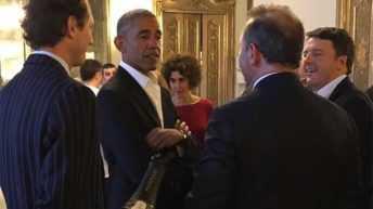 """Barack Obama commenta il Ferrari degustato con un""""Really delicious!"""" in occasione della cena di gala a Palazzo Clerici"""