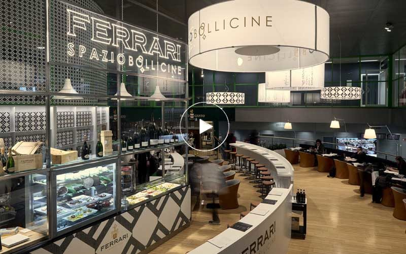 "Ferrari Spazio Bollicine premiati come ""Airport Wine Bar of the Year"""