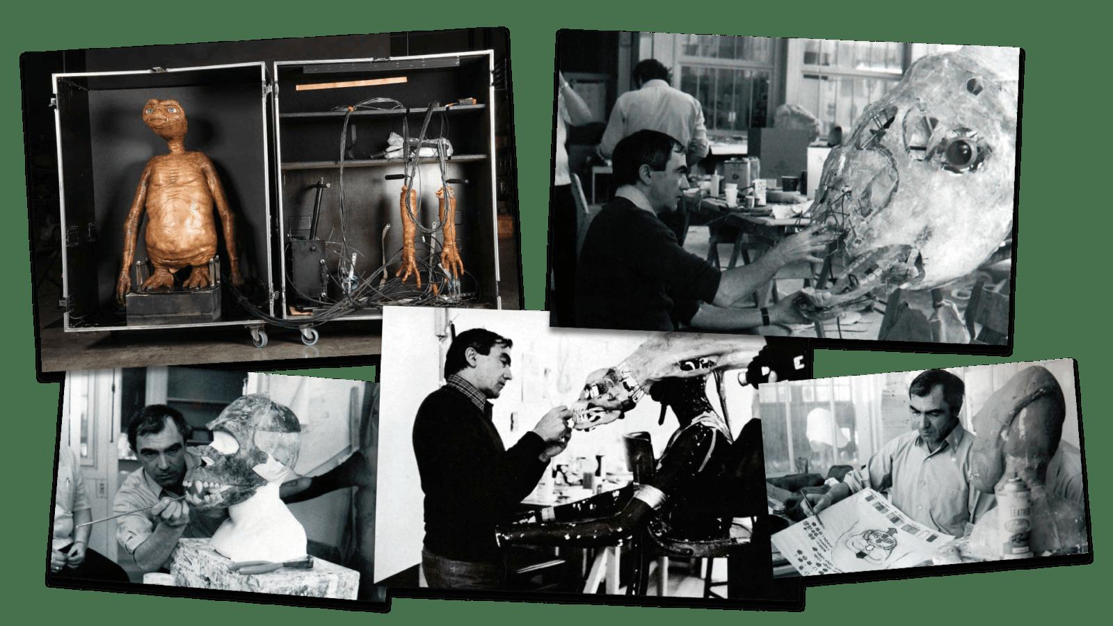 Carlo Rambaldi con i suoi lavori: Et, King Kong