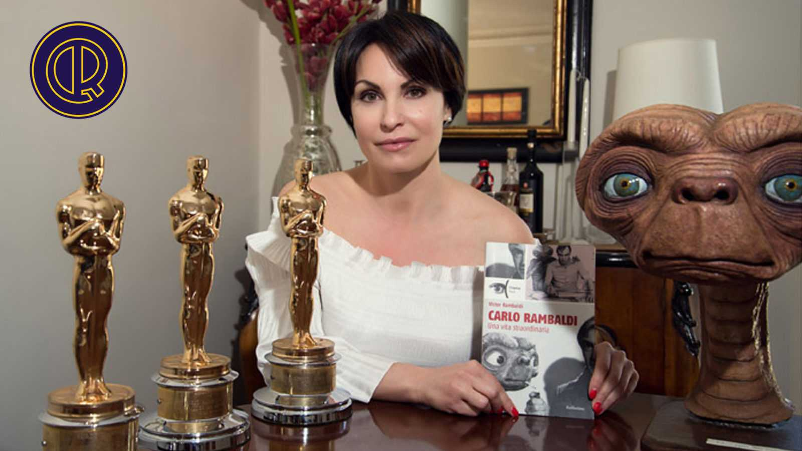 Daniela Rambaldi con premi Oscar del padre Carlo Rambaldi