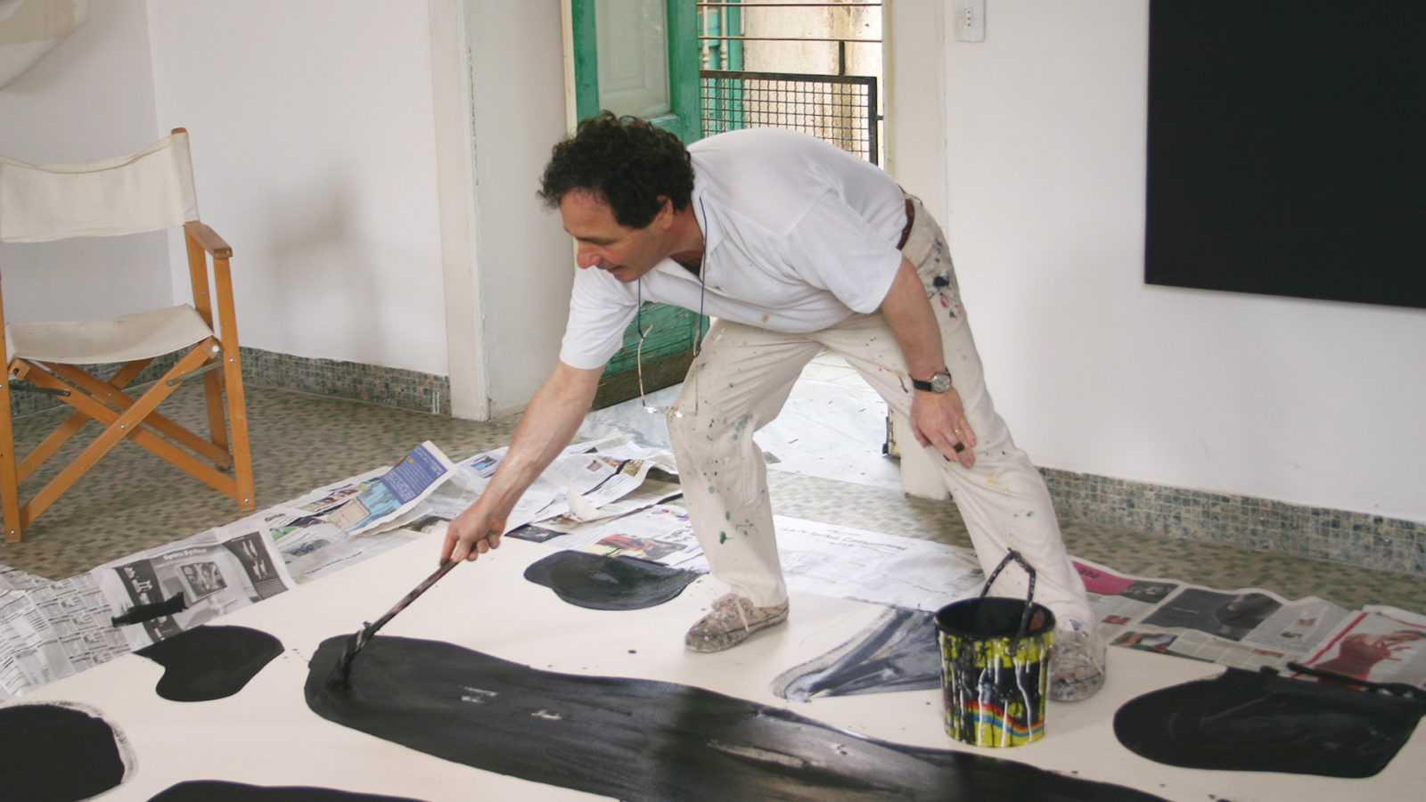 Cesare Berlingeri a lavoro