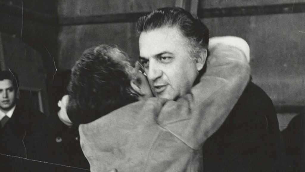 Federico Fellini e Lina Wertmuller