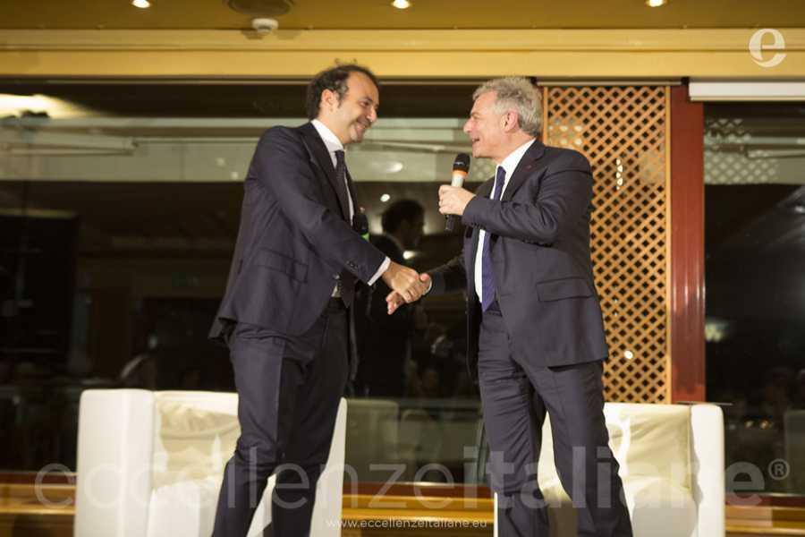 Danilo Iervolino e Piero Muscari durante il talk di Eccellenze Italiane. Il lancio del Progetto Etour