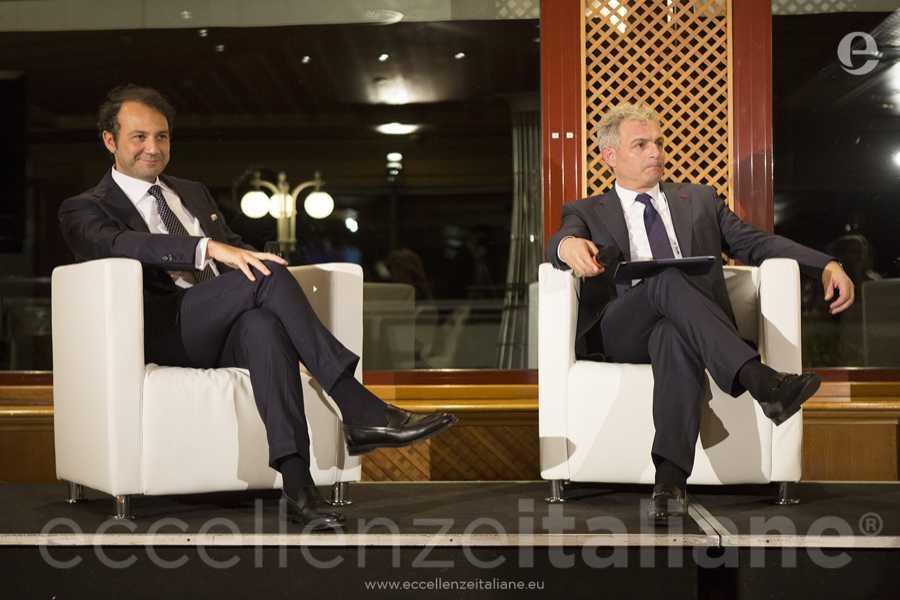 Danilo Iervolino e Piero Muscari durante il talk di Eccellenze Italiane