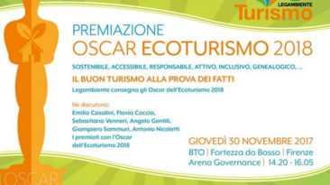 Ecoturismo 2018, il premio assegnato da Legambiente a 15 eccellenze italiane