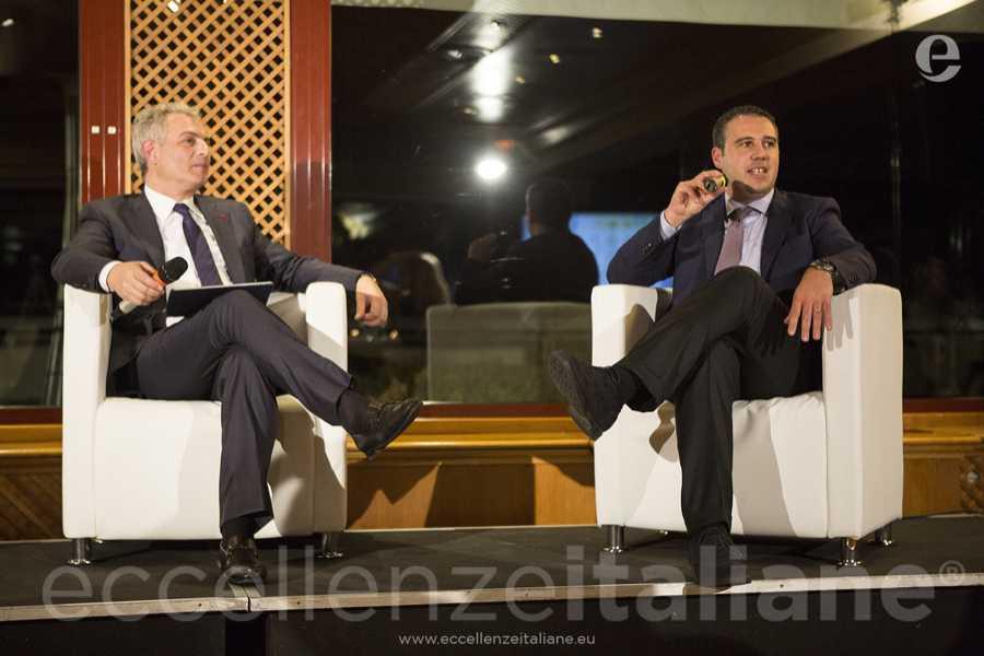 Piero Muscari e Domenico Barbuto, in rappresentanza di Gruppo Pubbliemme. Talk di Eccellenze Italiane