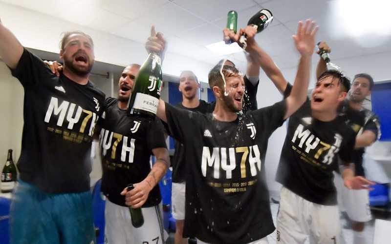 La Juventus festeggia con Ferrari Trentodoc
