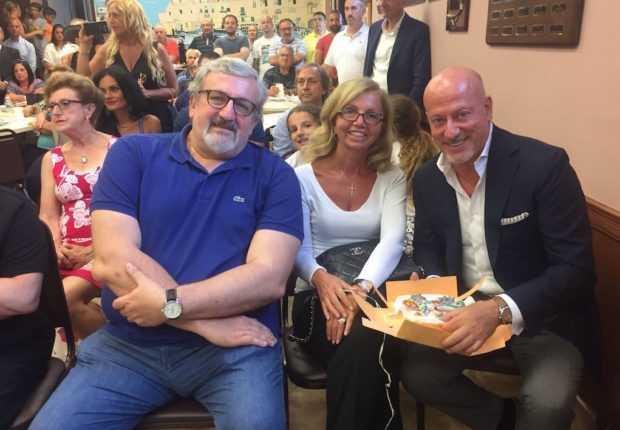 Da sin., il presidente della regione Puglia, Michele Emiliano, l'on. Fucsia Nissoli e Domenico Vacca.
