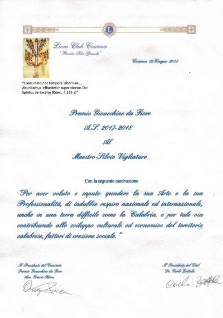 motivazione premio Eccellenze Italiane