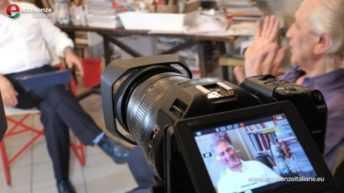 Pino Pinelli sul set con Eccellenze Italiane e Canon