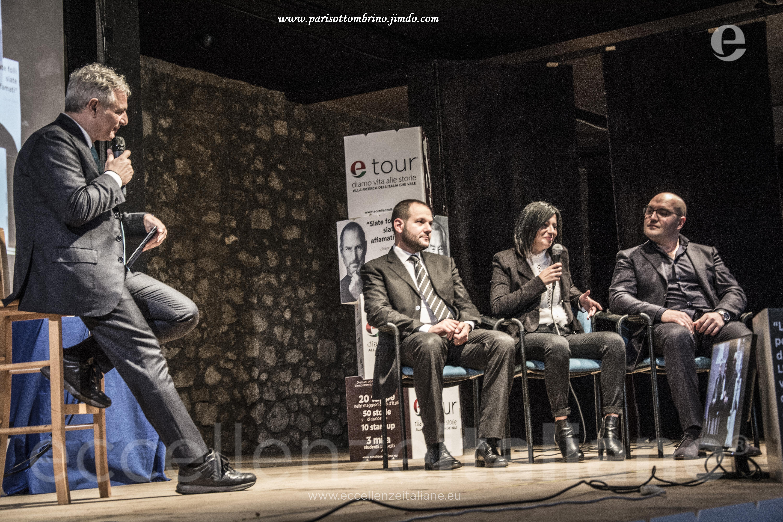 Talk Etour Avezzano. Da sx: Muscari, Maurizio, De Massis e Di Genova