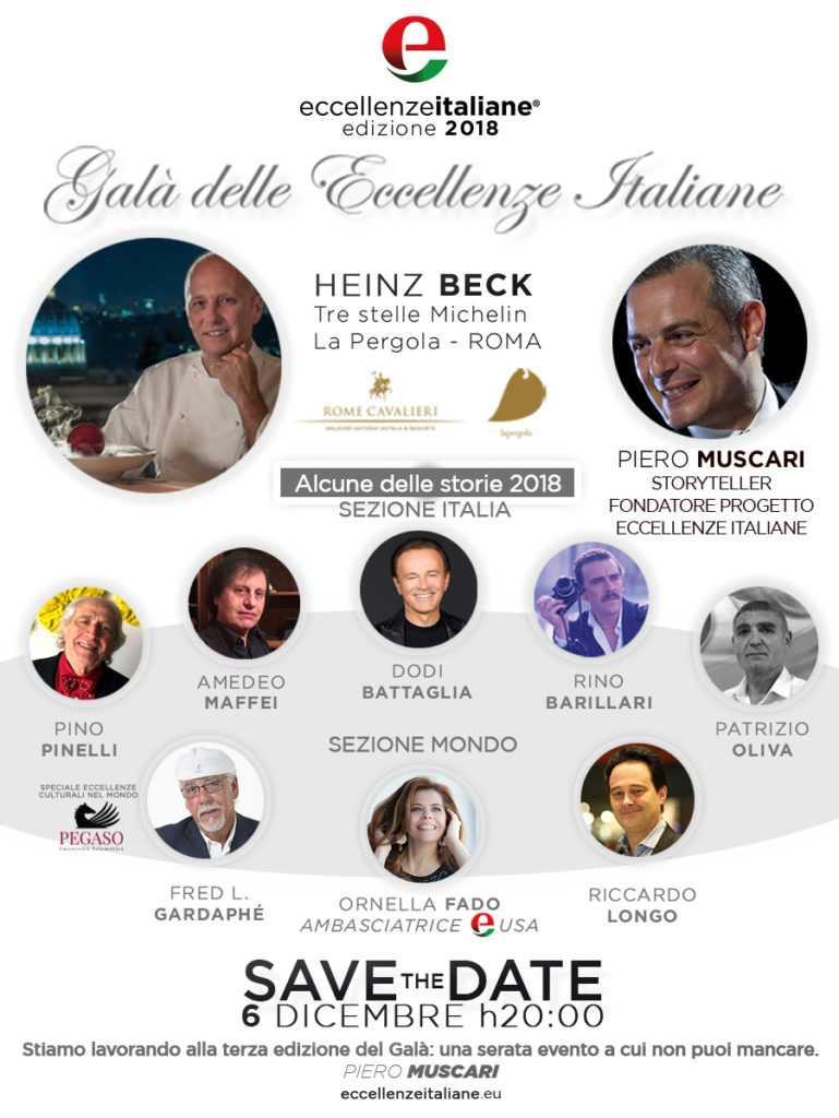 gala eccellenze italiane 2018 Eccellenze Italiane