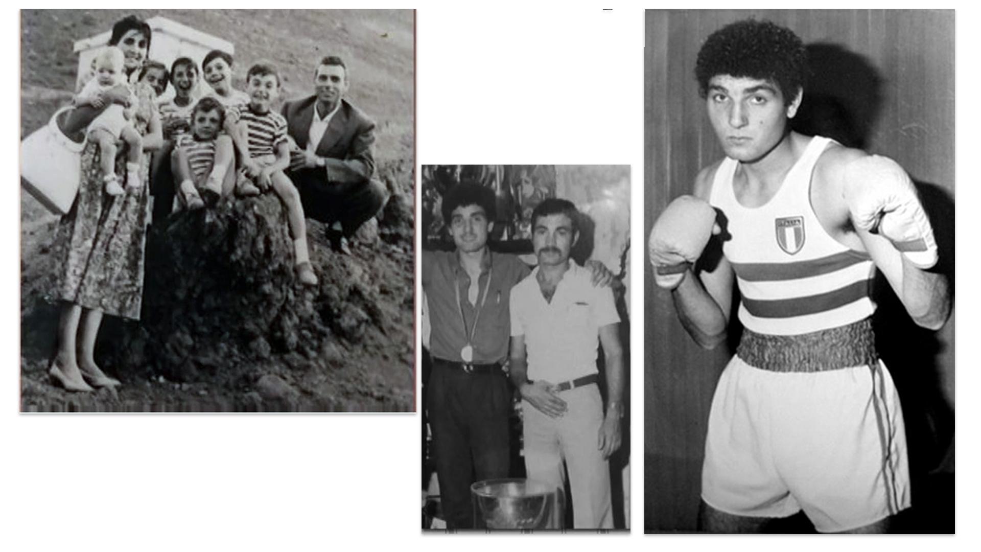 Patrizio Oliva con famiglia da giovane
