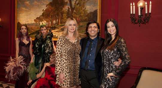 Anton Giulio Grande con Anna Falchi e Manuela Arcuri
