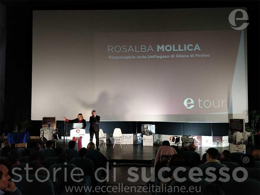 I saluti della direttrice di sede Rosalba Mollica - etour Piraino 8 tappa