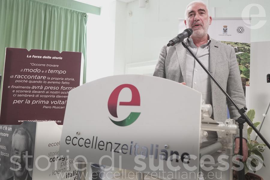 Gianni Chiaramonte di Tenuta Chiaramonte durante il suo intervento