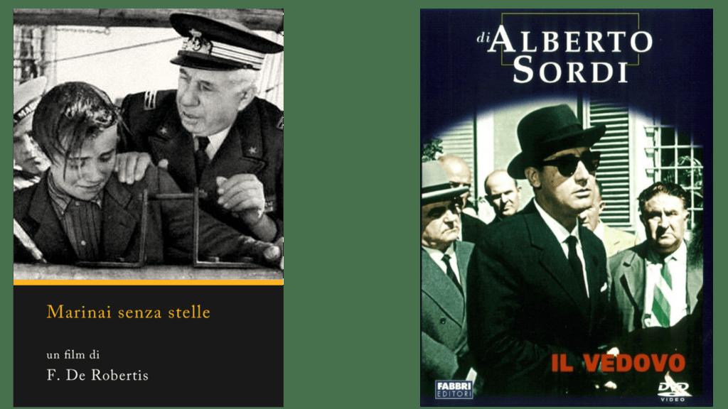 Marinai senza stelle Il vedovo locandine film Eccellenze Italiane
