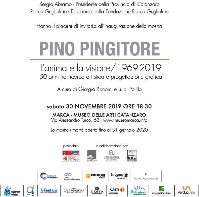 Pino pingitore mostra invito Eccellenze Italiane
