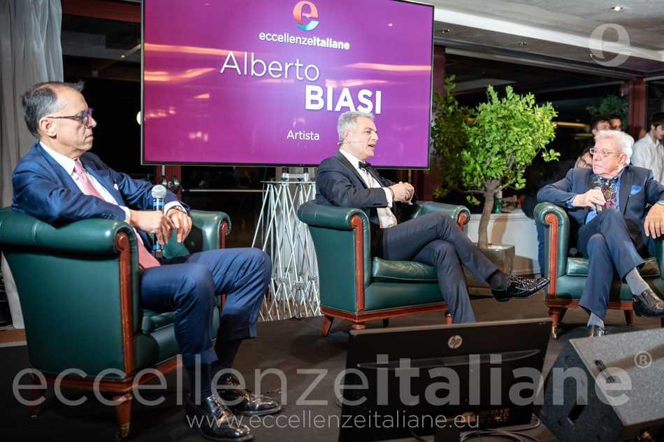 Rocco Guglielmo-Piero Muscari e Alberto Biasi al Galà delle Eccellenze Italiane 2019