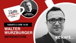 """Walter Wurzburger è l'ospite di Piero Muscari nella diretta """"un caffè eccellente"""" di sabato 2 maggio"""