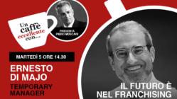 """Ernesto Di Majo è ospite di """"Un Caffè Eccellente"""" condotto dallo storytailor Piero Muscari martedì 5 𝐌𝐚𝐠𝐠𝐢𝐨 𝐚𝐥𝐥𝐞 𝟏𝟒:𝟑𝟎."""
