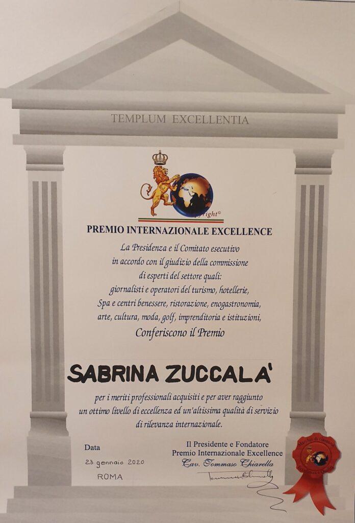 zuccala premio Eccellenze Italiane