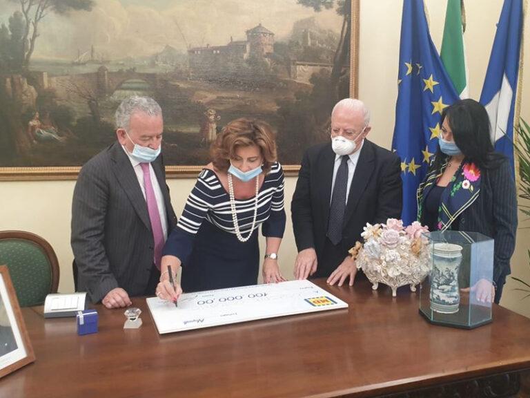 Solidarietà: Md S.p.A. dona assegno di 100 mila euro all'Ospedale Cotugno di Napoli.
