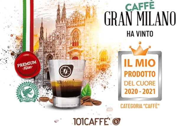 """101caffe' vince il premio """"Il Mio Prodotto del cuore""""  """