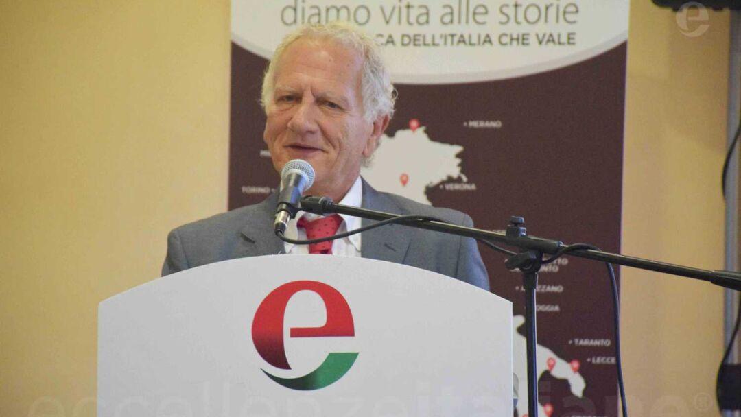Piero Abbruzzese durante il suo intervento