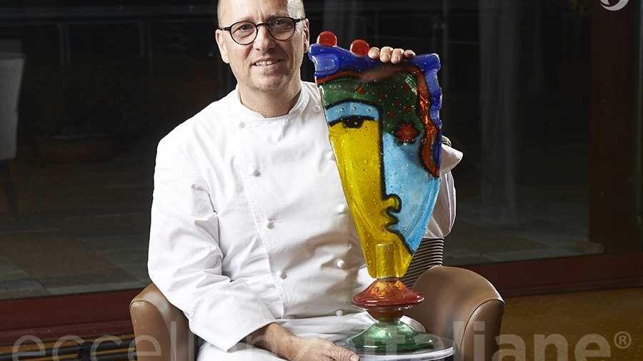 Heinz Beck con il premio di Eccellenze Italiane