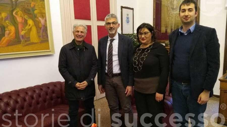 Da sx: Piero Muscari, Giuseppe Cassì, Raimonda Salamone e Matteo Burgio
