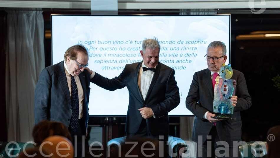 Patrizio Podini Premia Franco Ricci Gala Eccellenze