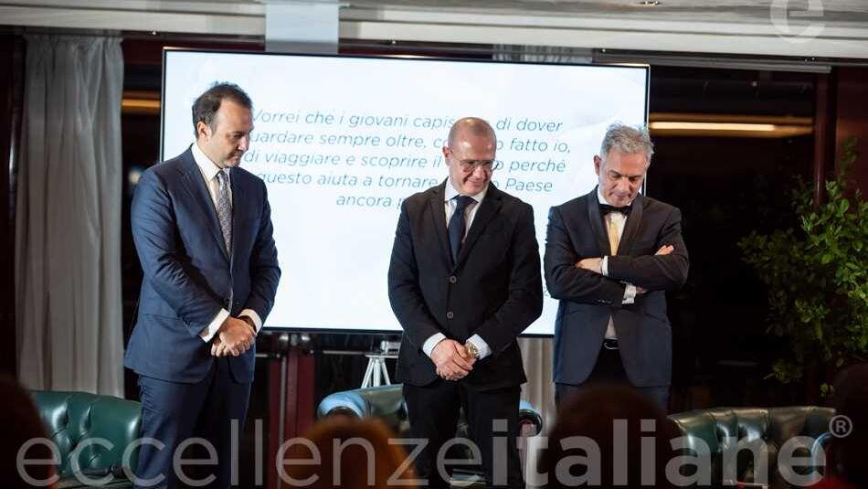 Danilo Iervolino, Giuseppe Pezzano e Muscari durante la lettura della motivazione