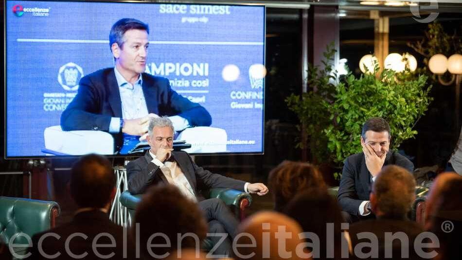 Orazio Iacono e Piero Muscari durante la proiezione della storia