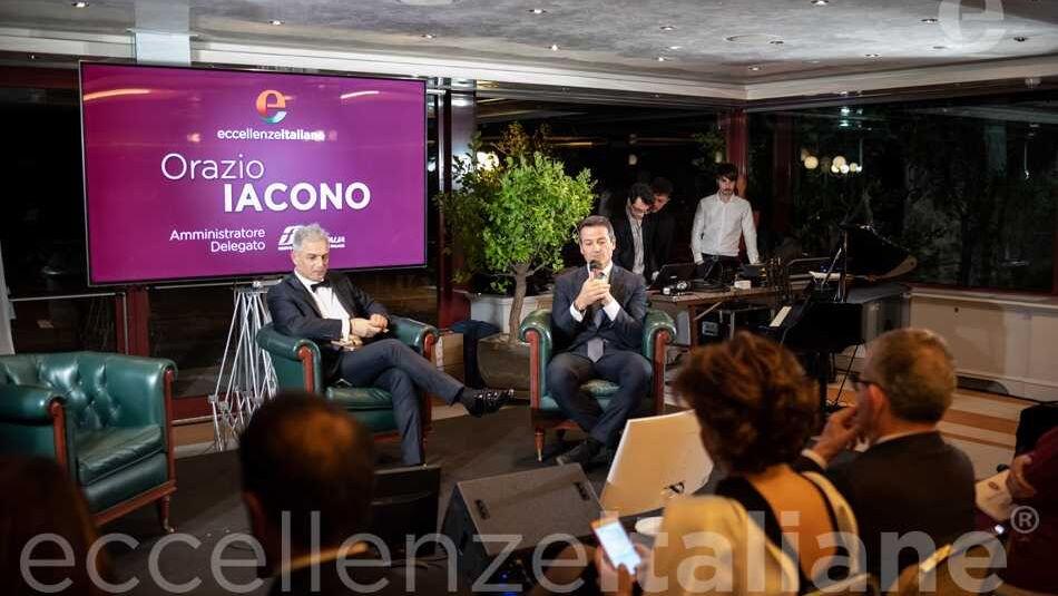 Orazio Iacono e Piero Muscari durante il Galà delle Eccellenze Italiane 2019