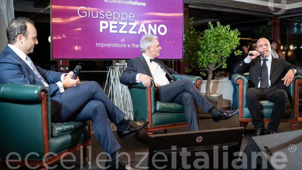 Giuseppe Pezzano con Danilo Iervolino e Piero Muscari