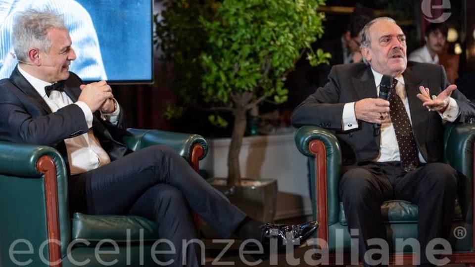 Rino Barillari durante il talk al Gala delle Eccellenze Italiane con Piero Muscari