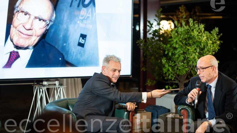 Tito Stagno In Collegamento Telefonico Con Lorenzo Fazio E Muscari