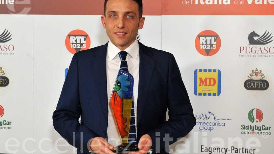 Antonio Minopoli - premio Partner Energy e& gas - Eagency Eccellenze Italiane 2018