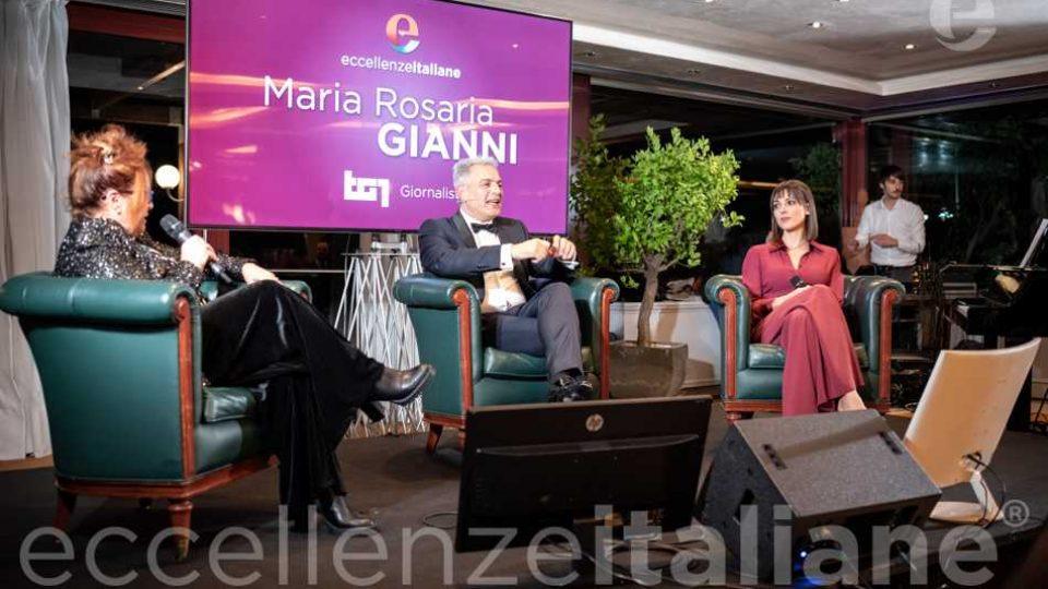 Maria Rosaria Gianni, Piero Muscari e Simona Molinari al galà delle Eccellenze Italiane 2019