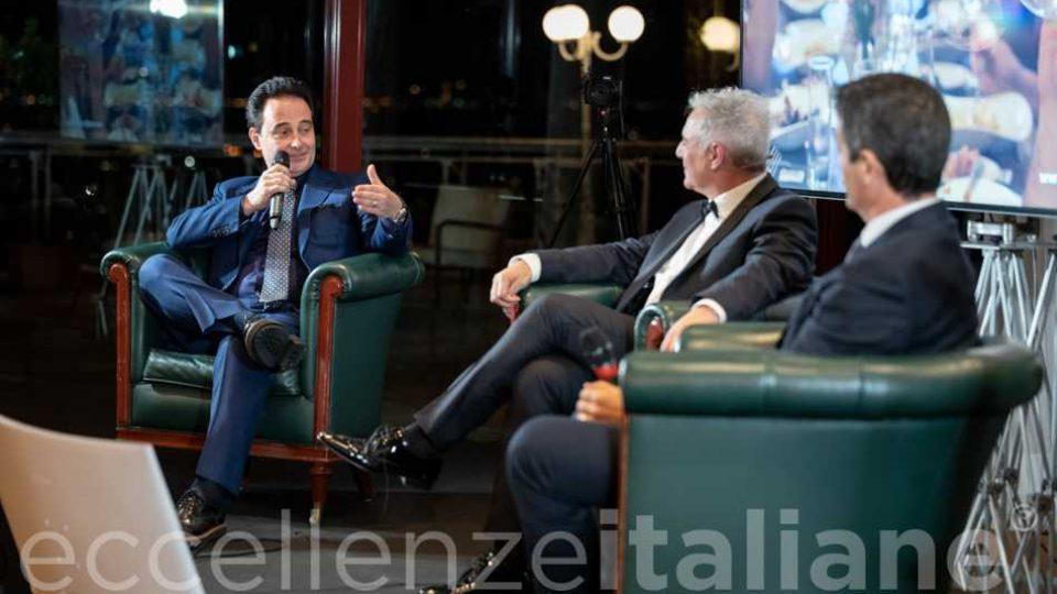 Un momento del talk con Riccardo Longo, Piero Muscari e Orazio Iacono alla IV edizione del Galà delle Eccellenze Italiane